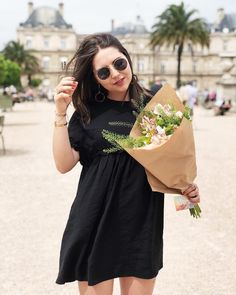 Flowers please - dress @zara // Chic and Clothes