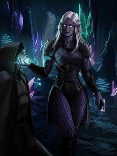 Elves Fantasy, Fantasy Races, Fantasy Rpg, Medieval Fantasy, Dark Fantasy Art, Fantasy Girl, Dungeons And Dragons Art, Dungeons And Dragons Characters, Dnd Characters