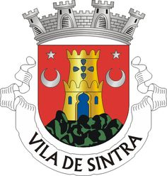 Coat of Arms, Sintra, Portugal. Sintra is a resort town in the foothills of Portugal's Sintra Mountains, near the capital, Lisbon. A longtime royal sanctuary, its forested terrain is studded with pastel-colored villas and palaces. The Moorish- and Manueline-style Sintra National Palace is distinguished by dramatic twin chimneys and elaborate tilework. The hilltop 19th-century Pena National Palace is known for a whimsical design and sweeping views.