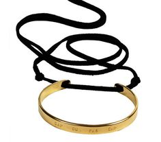 Pictures of Nadia 'Love Me If You Dare' Gold Bangle