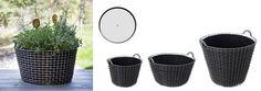 paniers & corbeilles en inox tressé main : plaque de fond et sacs géotextiles pour bac à planter