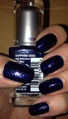 Leighton Denny nail polish, sapphire skies