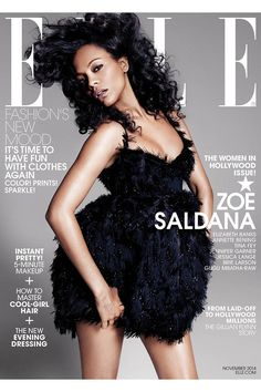 Zoe Saldana - Elle Magazine Cover [United States] (10 November 2014)
