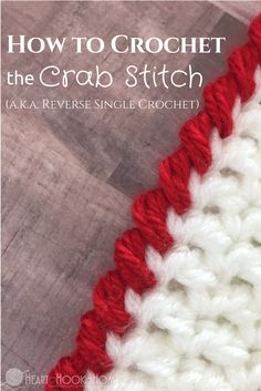 crochet tutorial The Crab Stitch Crochet Stitch Video Tutorial - What is the crab stitch? Only the easiest crochet border stitch ever! I tend to use this as a border because of the way it works up, and it is beautiful!Knit And Crochet Daily - Page 20 of 1 Crochet Video, Crochet Diy, Crochet Instructions, Crochet Basics, Crochet For Beginners, Love Crochet, Crochet Crafts, Crochet Projects, Tutorial Crochet