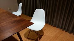 Eames chairs from kogan. A bit flimsy, but not too bad. Good value for money.