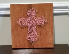 String Art, Cross, Made to Order, Wall Decor by ElysianCustomCrafts on Etsy