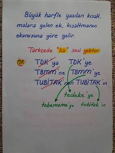 Spelling of the attachment to the abbreviations - dilbilgisi - Turkish Language, Study Notes, Upper Elementary, Teaching Math, Videos Funny, Mathematics, Literature, Kindergarten, Science