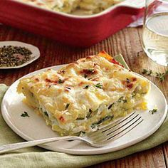 Lasagna with Zucchini Recipe | Cooking Light #myplate #veggies #dairy