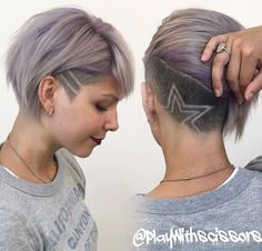 Women's Short Undercut Hairstyles with Hair Tattoos