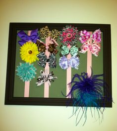 Hair bow holder frame!!
