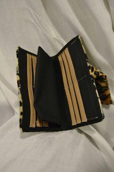 Carteira pêlo leopardo Faux leopard fur wallet