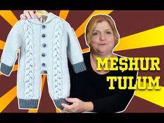 Örgüden Kapşonlu Tulum - Meşhur Örgü Modeli - Örgü Tasarım Yeni Sezon - YouTube