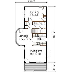 Farmhouse Style House Plan - 3 Beds 3 Baths 1372 Sq/Ft Plan #79-183 Main Floor Plan - Houseplans.com