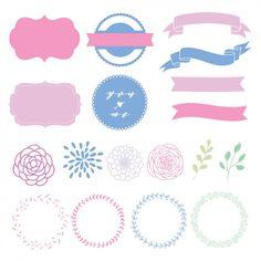 Декоративные элементы коллекции Бесплатные векторы