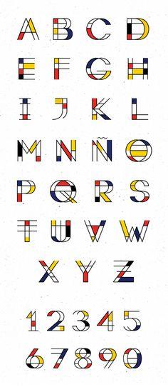 Mondrian free font letters #freefonts #commercialfonts #fontsfordesigners #webfonts
