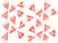 We're giving away summery desktop wallpapers by artist MariaSchoettler for July 4th!  #freebies #wallpaper #fruit