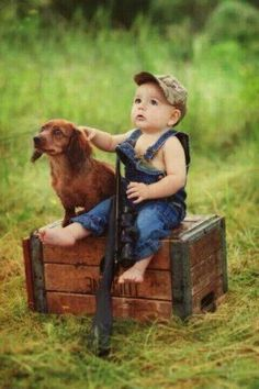Awww...I want to do something similar with Wyatt. I want him to have his dad's duck calls and decoys around him!