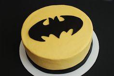 Batman {Yellow Cake with Batman Logo} | A Little Something Sweet - Custom Cakes