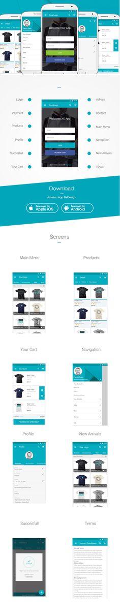 E-Commerce App Ui PSD
