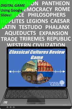 Your middle school social studies students will learn or review ancient Greece and Rome with this fun digital game that uses Google Slides. Perfect for in class or at home enrichment or review! Ancient Rome, Ancient Greece, Basic Geography, Social Studies Games, Digital Review, Map Skills, Enrichment Activities, Middle School Teachers, Review Games