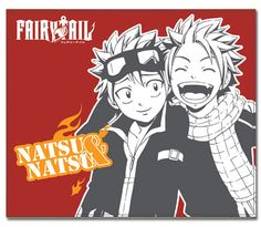 """Fairy Tail Laughing Natsu and Natsu Throw Blanket Official Licensed Fairy Tail Blanket Size Approximately 60"""" x 50"""" Return Policy: 30 Day Return Policy Damage,"""