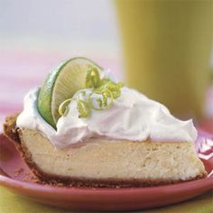 This lightened version of Key lime pie has less than 4 grams of fat per serving, seems quick & easy; I'm going to try it this summer!