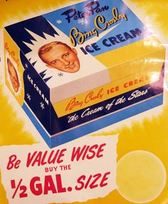 Peter Pan Bing Crosby Ice Cream Ad
