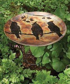 Birdbaths 20500: Ancient Graffiti Cedar Waxwing Standing Bath - Copper Color For Songbird Lovers! -> BUY IT NOW ONLY: $74.95 on eBay!