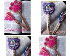Set of 3 handmade bookmark/Handmade crochet bookmark/crochet