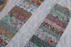 Beautiful Liberty Fabric Quilt by ruthdesigns, via Flickr. My love affair w/ liberty and Ruthdesigns continues!
