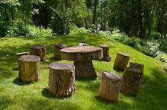 Resultado de imagem para casa de troncos de arvores