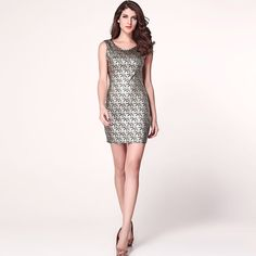 Round Neck Slim Body Sexy Fashion Dress