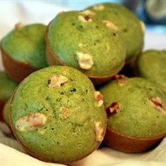 Green Tea muffins - use matcha green tea powder. I added more than the recipe says to get more of the matcha flavor