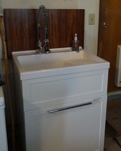 modern contemporary laundry sink cabinet #19782