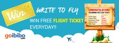 #WriteToFly Congratulations to all the Write To Fly Winners for Winning Free Flight Tickets. Keep sharing your amazing travel strories. Thanks https://www.goibibo.com/write-to-fly/