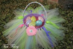 Super cute Easter basket!  Plus the tutu is removeable for dressup time!