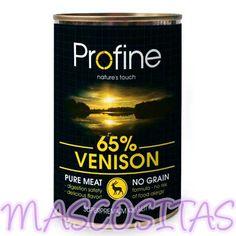 Profine Venado. Profine Pure meat, Es una gama superpremium de comida húmeda para perro a base de carne.