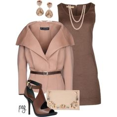 Pink Belted Jacket, created by derniers on Polyvore