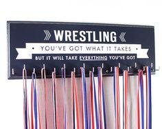 Wrestling medal holder rack display wrestling school sports medals