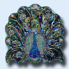 mosaic #peacock