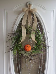 Pumpkin Wreath - Fall Wreath