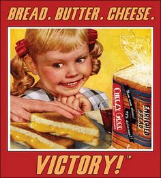 bread. butter. cheese! old advertisement