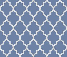 French Blue and Sterling Ogee - sparrowsong - Spoonflower