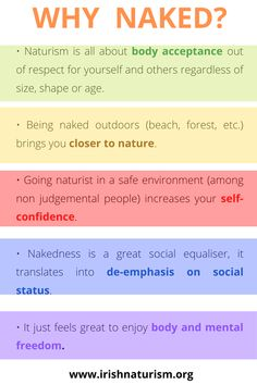 5 simple reasons to practice naturism/nudism Closer To Nature, Self Confidence, Acceptance, Irish, Ireland, Key, Simple, Irish People, Unique Key