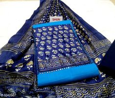 Suits & Dress Materials Attractive Cotton Salwar Suit  **TOP* * Slub Cotton + Hand Work (2.20 MTR)  **BOTTOM* * Cotton + Solid (2 Mtr)  **DUPATTA* * Muslin Silk + Digital Printed (2.25 Mtr)  **TYPE* * Un- Stitched  **COLOUR* * Multi Colour  **CONTAINS* * 1 TOP, 1 BOTTOM & 1 DUPATTA  *Sizes Available* Un Stitched *    Catalog Name: Floral Printed Cotton Slub Suits & Dress Materials (Single Pack) CatalogID_126571 C74-SC1002 Code: 484-1042667-