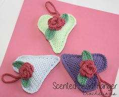 Spread a lovely scent with a beautiful crochet heart! Make this for your home with the scented heart crochet pattern by Crochetions!
