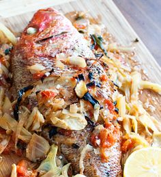 Whole Roasted Red Snapper #recipe