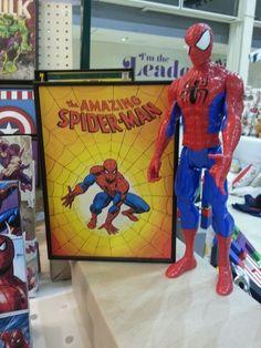 Framed mini poster https://www.etsy.com/listing/230359068/spiderman-framed-print-super-hero-wall?ref=shop_home_active_19