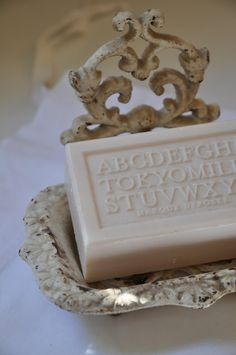 Lovely soap and soap dish