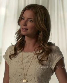 Seen on Celebrity Style Guide: Revenge Style & Fashion: Emily Van Camp, as Emily Thorne, wore this Joie Basilica Eyelet Top on �Revenge� Season 3, Episode 3: �Confession�